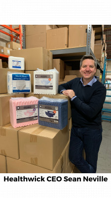 Healthwick CEO with NorthShore Care Supply Adult Diapers