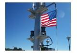 Orca Green Marine LX Classic Series LED Navigation Lights on a Pilot boat