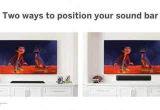 Wall or Table Mount the All-in-One Sound Bar