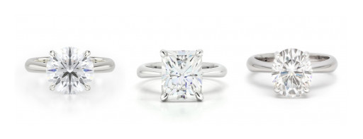Engagement Rings Featuring Exceptional Moissanite Available at Ella Rose
