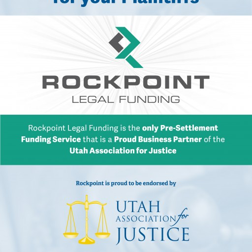 Rockpoint Legal Funding Endorsed by Utah Association for Justice (UAJ)