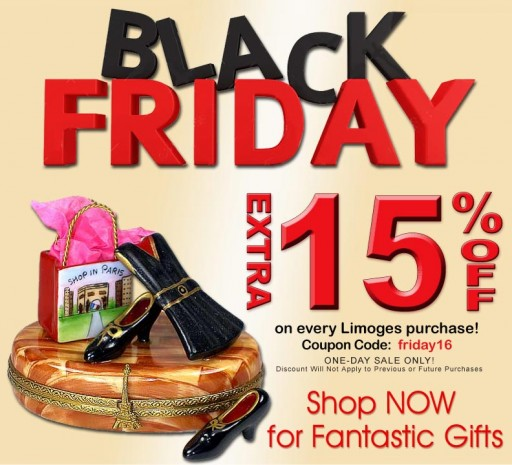 Black Friday Exceptional Savings on French Limoges Boxes - Gifts Worth Giving at LimogesCollector.com