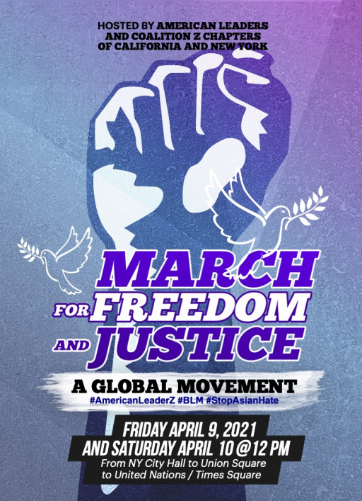 Champions for Change: AmericanLeaderZ Hosts 'Stop Asian Hate March for Freedom and Justice' in New York City April 9-10