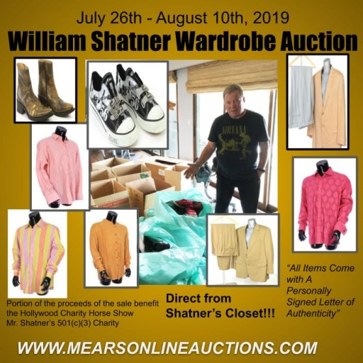 William Shatner Offers 200+ Lots of Personally Worn Items to Benefit Charity