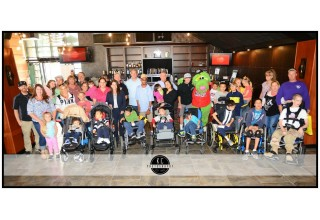 Children and their families at the 2015 Disabilities Awareness Night