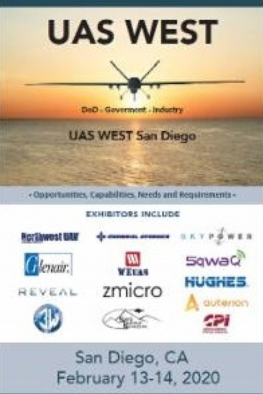 Technology Training Corporation Announces 'UAS West for DoD - Government - Industry' (Feb. 13-14, 2020)