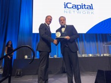Dan Vene from iCapital Network accepting the award