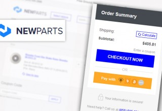 NewParts Cryptocurrency Checkout Option