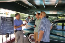 Preservationists touring the L. Ron Hubbard House at Camelback were impressed with the work done to restore it exactly as it was when L. Ron Hubbard lived there.