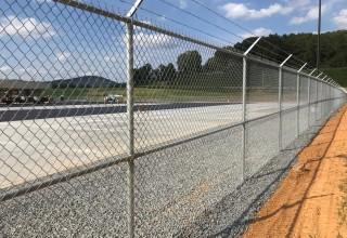 Commercial Fence Installation at ODFL in Cartersville, GA