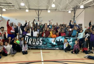 Reaching out to youth with a drug-free message.