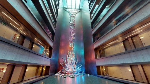 The Most Dramatic Waterfall in Madrid is Inside a Hotel and Has No Water