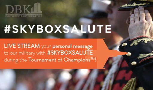 DBK Announces Skybox Salute, a Military-Gratitude Digital Event to Take Place During Diamond Resorts Tournament of Champions