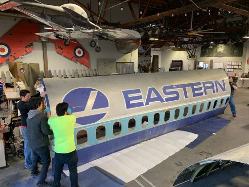 MotoArt Honors Retired Eastern Air Lines Dc-9-30 Plane N8990e With a Limited Edition Planetag Cut From Its Fuselage