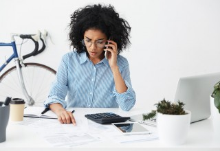 Frustrated Student Loan Borrower on the Phone