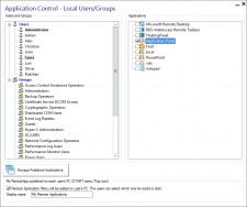 Application Pannel Settings - RDSWebAccess