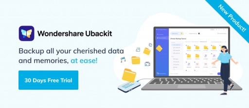 Wondershare Releases Ubackit, a Data Backup & Restore Software