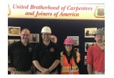 (left) Chris Austin, Local 276, Fred Swayze, Jr., Local 277, Melissa Carter, Carpenter Contractor Trust, Bob Wilmott, Local 277.