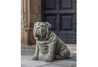 Campania International Antique Bulldog Statue