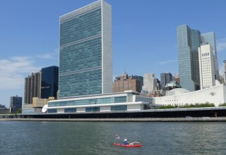 Swimming in the East River, Passing the UN Building