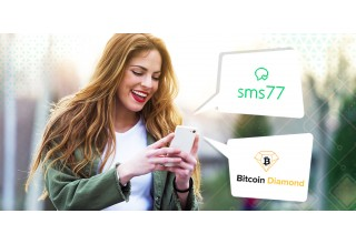 Customer uses Bitcoin Diamond (BCD) to pay for sms77 services