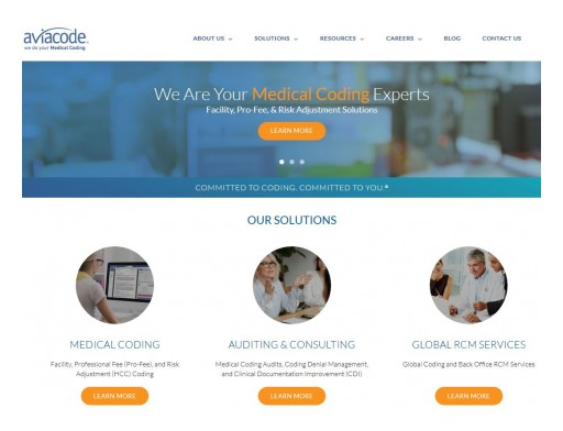 Aviacode Launches New Corporate Website Showcasing  Breadth of Medical Coding, Auditing, and Global RCM Services