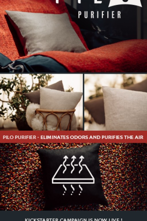 PILO: The World's First Odor-Eliminating, Air-Purifying Throw Pillow