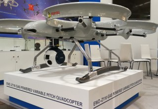 EWZ-Z110 Gas Engined Quadrotor in Hannover Messe