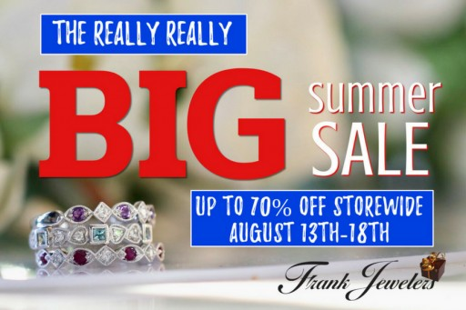 Frank Jewelers Celebrates Summer Sale With Up to 70% Off on Fine Jewelry and Watches