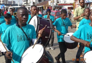 Chukwuma Daniel Chukwuma organized a march through Port Harcourt to raise awareness of the danger of drug abuse.