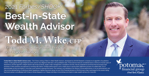 Potomac Financial Group's Todd Wike Named to Forbes' 2021 List of Top Wealth Advisors