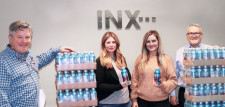 The INX team with CW4K premium drinking water.