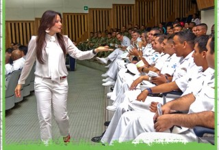 Maria brings a message of morals and ethics to government institutions