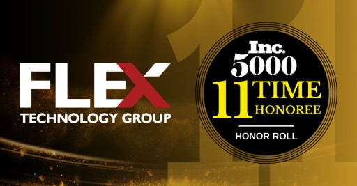 Flex Technology Group Maintains Rapid Growth With 11 Consecutive Years on the 2020 Inc. 500|5000 List of Fastest-Growing Companies