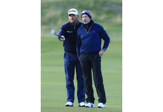 Ed Brown at Alfred Dunhill Links Championship with Professional Golfer Graeme McDowell