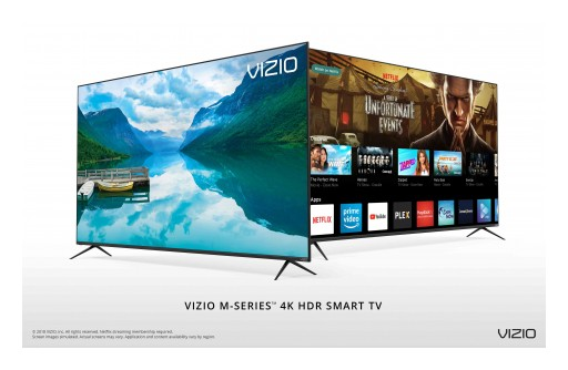 VIZIO Rolls Out All-New 2018 M-Series™ 4K HDR Smart TVs to Canada, Highlighted by Step-Up Picture Quality and Bezel-Less Design