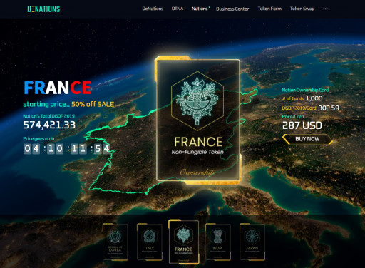 DeNations, a Blockchain-Powered Metaverse, Launches the First INO (Initial Nations Offering) Offering Five Nations to the Public