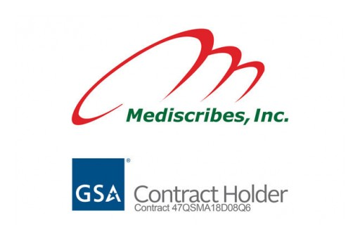 Mediscribes, Inc., Has Been Chosen by the US General Services Administration (GSA) as a Contract Holder for Medical Transcription Services