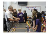 NEF's national director for STEM, Prof. Tony Betrus of SUNY, with Martins Ferry students