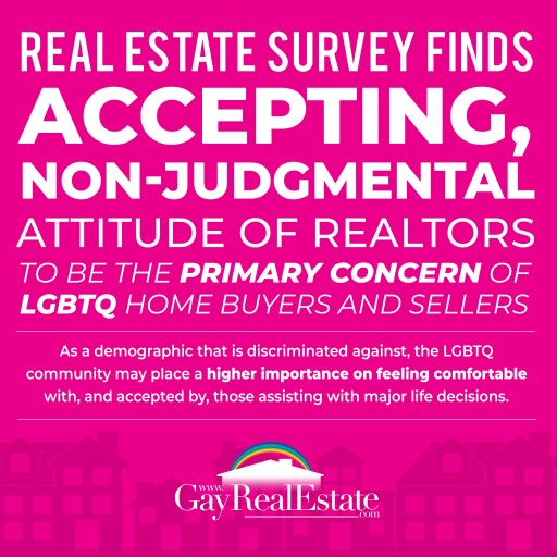 Real Estate Survey Finds Accepting Non-Judgmental Attitude of Realtors, Primary Concern