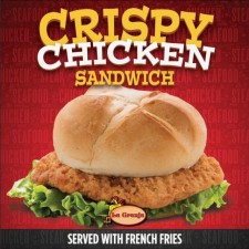 Inquire about the Wildly Popular Crispy Chicken Sandwich with French Fries at La Granja Osceola
