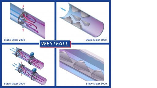 Westfall Offers Four Affordable Static Mixers for Wastewater Treatment Engineers Who Face Difficult On-Site Challenges