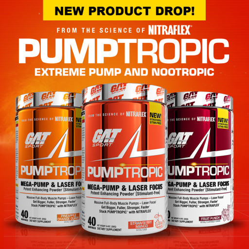 GAT SPORT Releases a New Stim-Free Pre-Workout - PUMPTROPIC