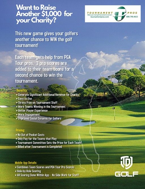 Charity Golf Tournaments Can Now Offer a Second Chance to Win With TDJ Golf and Tournament Pros' Partnership