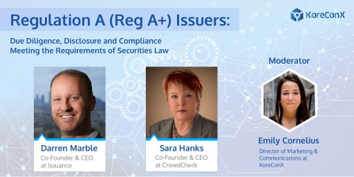 Webinar Brings Together Top Reg A+ Lawyer and Issuance Platform on April 30