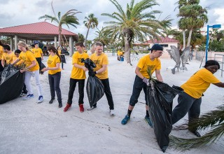 Volunteer Ministers fill over 7,000 bags with debris within the first three days after the storm.