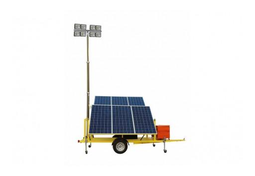 Larson Electronics Releases Solar Power LED Light Plant and 1.5W Generator, 6400 Lumens, 4 LEDs