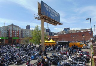 Hundreds of bikers and their riders
