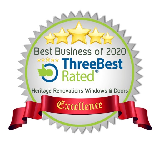 Canada's Leading Window Company Heritage Renovations Windows & Doors Wins Three Best Rated® Award 2020