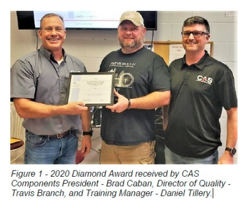 CAS Receives FAA Diamond Award for Training Excellence for the Fifth Consecutive Year